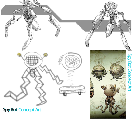 Early Spy Concept Art