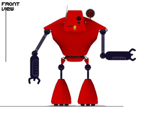 Final Mech bot Concept Art