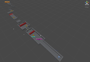 Level layout in editor