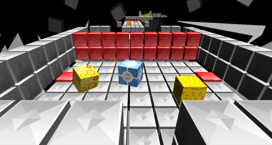In Cube form, notice the yellow textured cubes